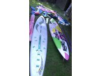 x2 Windsurf board and loads of sails and other related gear.