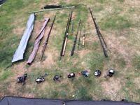 Job Lot of fishing gear (8 reels, 5 rods + basic fishing equipment included!)