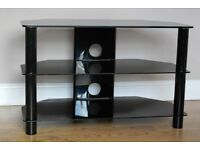 """Black Glass TV Stand (TV up to 42"""")"""