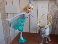 Disney's Frozen Beautiful Ice Skating Elsa Doll & Sven the Reindeer. Toy / Gift.