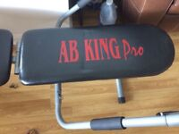 Pro Ab King Fitness Bench. As new, Cost £99.99