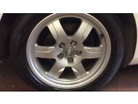 "Genuine 17"" audi Alloys and tyres not seat vw or skoda"