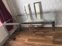GLASS, dining table, less than 2 months old, PERFECT condition, BARGAIN, £100 (o.n.o)