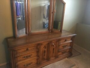Must sell Large Oak dresser and Mirror