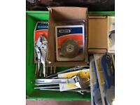 Job Lot Draper Hand Tools, Adjustable Wrench, Self Grip Pliers, Cutters, Wire Brush