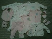 Baby girl 0-3 Tatty Teddy clothes set