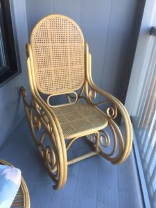 Rattan bamboo rocking chair