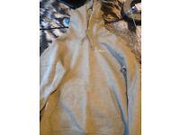 Nike light grey hoodie size medium