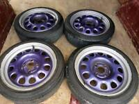 15in mk1 golf g60 4x100 steel wheels