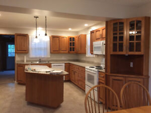 Solid Wood Cabinets - Complete Kitchen