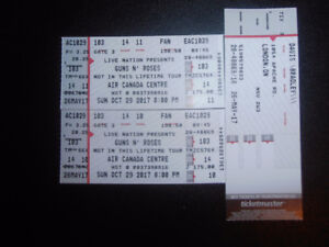 Guns N' Roses Tickets for Oct. 29th in Toronto at the ACC