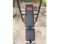 Small bench press with weights
