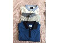 3 polo shirts