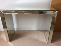 Mirrored Glass console / dressing table