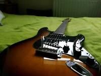Fender stratocaster with telecaster fretboard