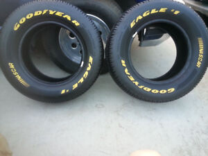 WANTED-GOODYEAR EAGLE #1 NASCAR YELLOW LETTER TIRES 255/60/15