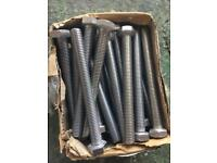 30 stainless steel bolts M12 120mm