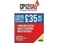 Gas safety certification (cp12) £35