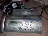 Panasonic Fax Machine Telephone Copier Answer Phone. KX-FC255 plus fax rolls
