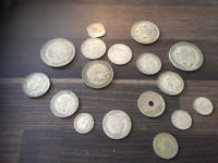 Silver Coins - Crown - florins - Half crowns - threepences ect - over 100 grams