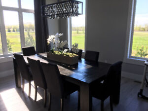 Solid Wood DiningTable and 8 Chairs