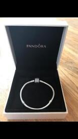 Pandora bracelet with sparkly clasp