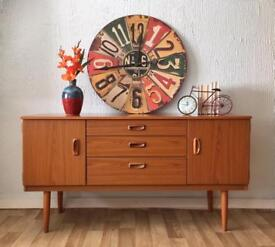 Mid Century Retro Vintage Schreiber Sideboard with Drawers. Delivery available