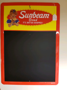 Vintage Tin Sign Advertising Sunbeam Bread Chalk Board