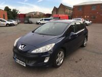 2008 Peugeot 308 Diesel Good Condition with Satnav Panaramic Roof history and mot