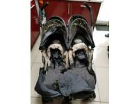 McLaren twin-pushchair