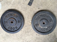 Cast iron weights 15kg x 2