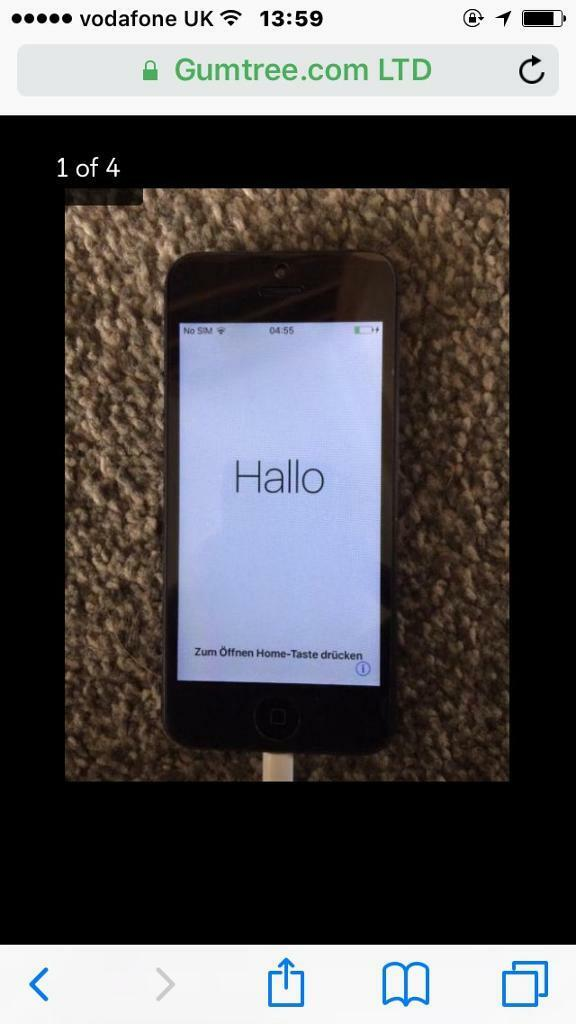 iPhone 5s vodafonein Swanley, KentGumtree - iPhone 5s mint condition 1 hair line crack can barley notice when phones on