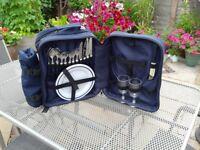 Blue Hi Gear picnic back pack. For 4 people .