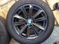 """ORIGINAL BMW ALLOYS WITH TYRES 17"""" as good as new!"""