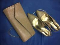 Clutch bag and matching shoes