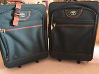 2 antler suitcases