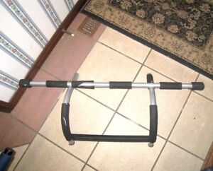 Door-hang Pull-up Bar/ Pushup Rack, good used condition