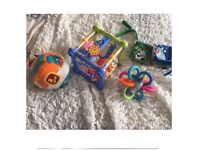 Baby toys musical moving ball books activity cube