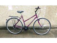 Ladies hybrid Raleigh Pioneer classic touring town bike