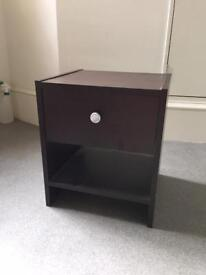 Small bedside table with drawer