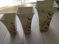 Set of 3 Decoupage Storage Containers