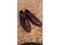 Mens firetrap brown leather shoes and bershka brown boots size 9