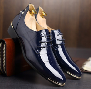 Navy Blue Dress Shoes - Brand New - Size 44 (10.5)