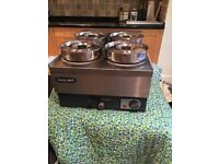 LINCAT BAINS MARIE STAINLESS STEEL WITH 4 POTS
