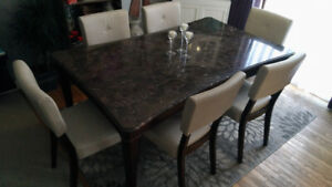 Gorgeous Solid Marble Dining Set