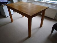 Desk or Kitchen Table Solid Oak with two drawers