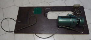 Sewing motor and part of table