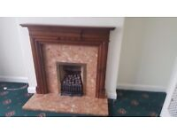 Fire place gas fired