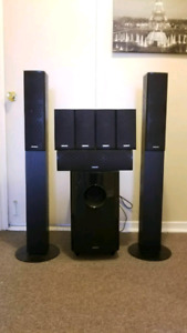 Onkyo SKS-HT870. 7.1 surround speakers with powered subwoofer. M