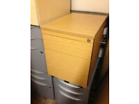 office pedestal oak style 2 drawers